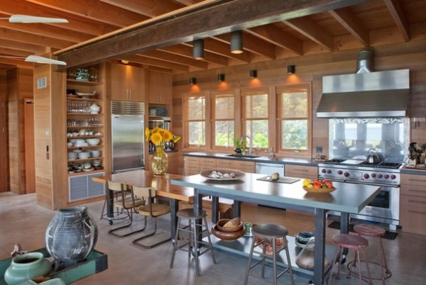 Rustic Kitchen by Jill Neubauer Architects