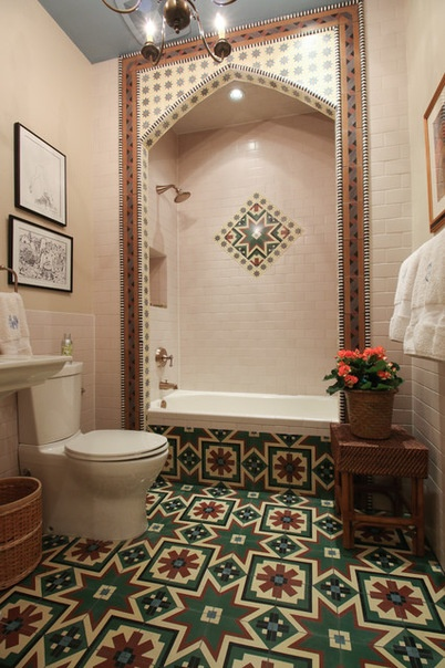 Eclectic Bathroom by Michaela Dodd