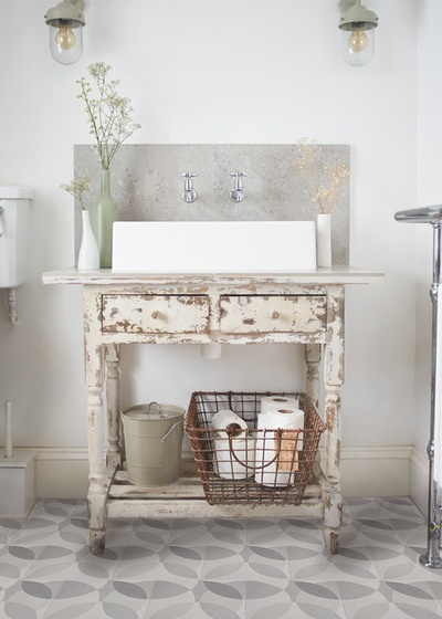 Shabby-chic Style Bathroom by Lindsey Lang Design Ltd